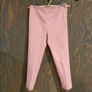 St. John sport Marie Grey pink Capri pants size 6